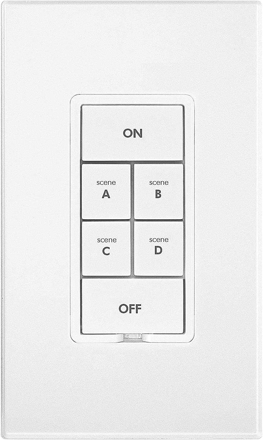 Insteon Smart On/Off 6-Button Keypad, KeypadLinc In-Wall Controller, 2487S (White) - Insteon Hub required for voice control with Alexa & Google Assistant