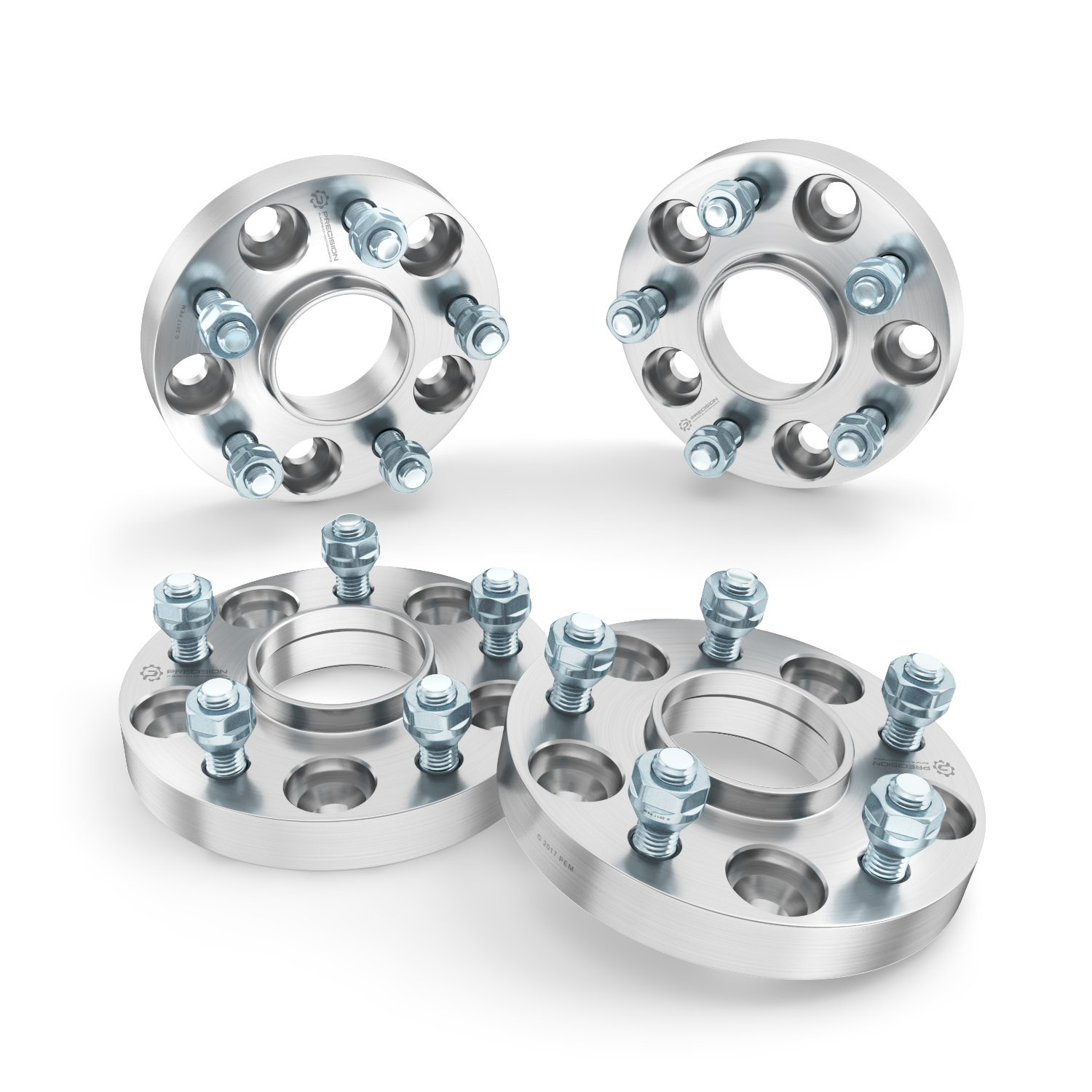 Silver 25mm 5x127 2pcs 07-18 Wrangler JK JKU 71.5mm Bore, 1//2x20 Studs Compatible with Jeep 99-10 Grand Cherokee WJ WK RockTrix 1 inch Hubcentric 5x5 to 5x5 Wheel Spacers 06-10 Commander XK