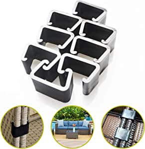 Outdoor Patio Wicker Furniture Sofa Rattan Chair Sofa Fasteners Clip Sectional Connector Big