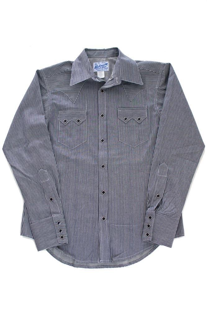 Rockmount Railroad Stripe Denim Western Shirt SP640-RSD-Black-17.5