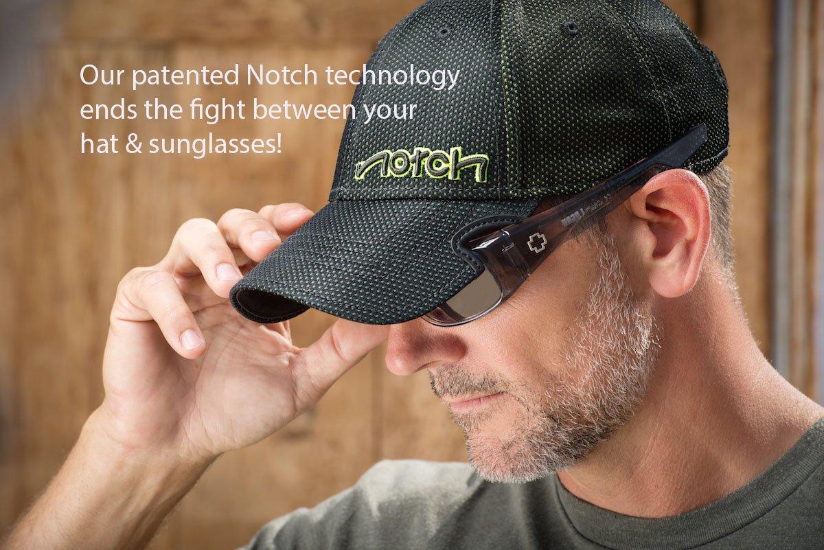 Notch Fitted Black Blank Cap L/XL