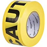 AmazonCommercial Caution Tape, 3-inch by 1000-feet, Yellow, 2-Pack