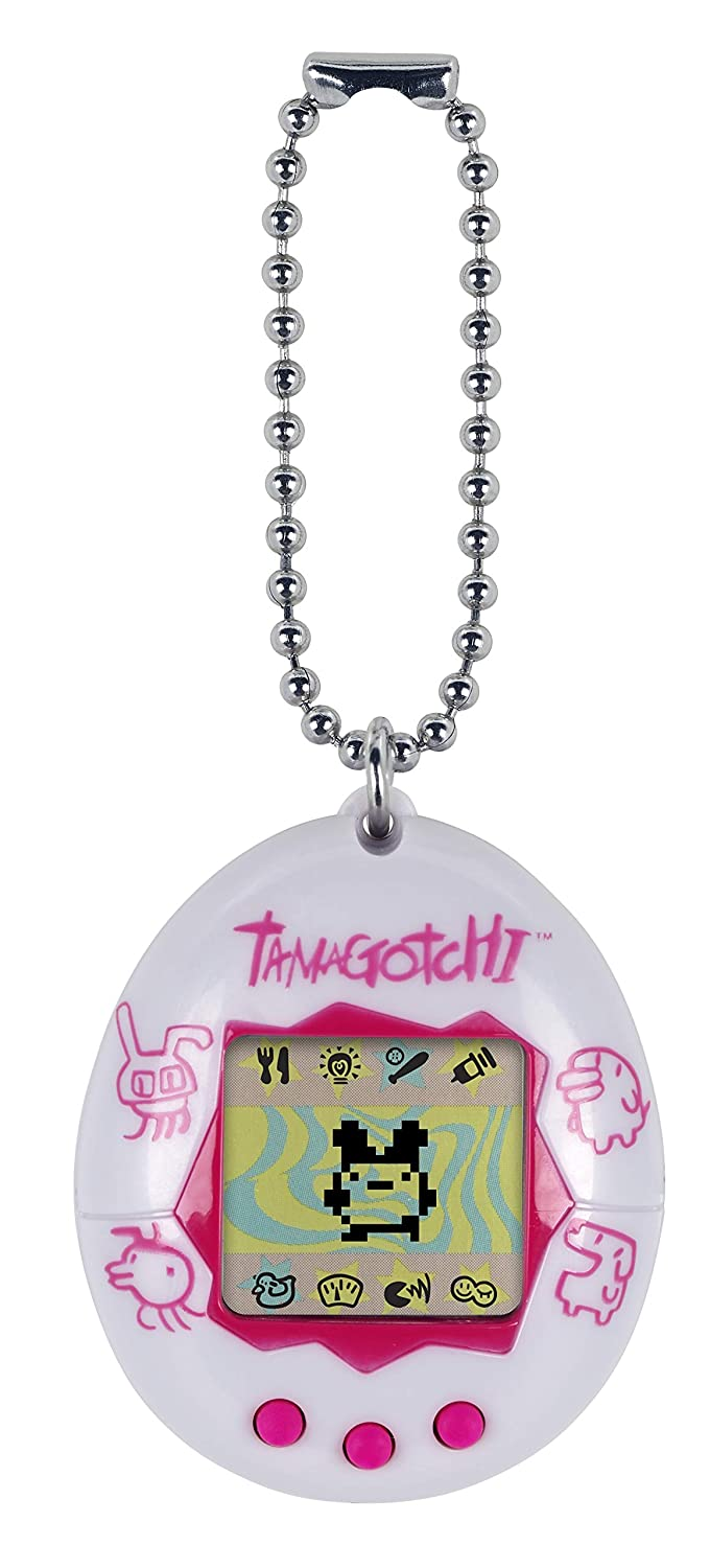 Tamagotchi Electronic Game White Pink