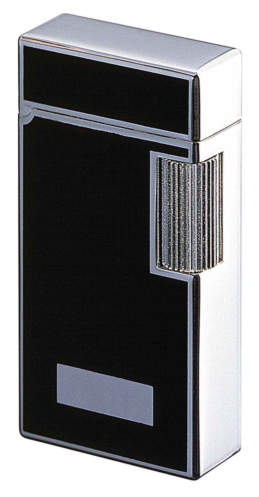 Sarome Flint Lighter SD1-37 Silver 2-side black lacquer