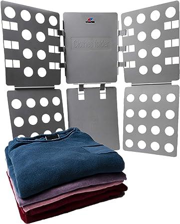 KOARBI Doblador de Ropa Adulto e Infantil. Doblador de Camisetas. Tabla para Doblar Ropa, Camisas, Pantalones. Resistente, Color Gris.: Amazon.es: Hogar