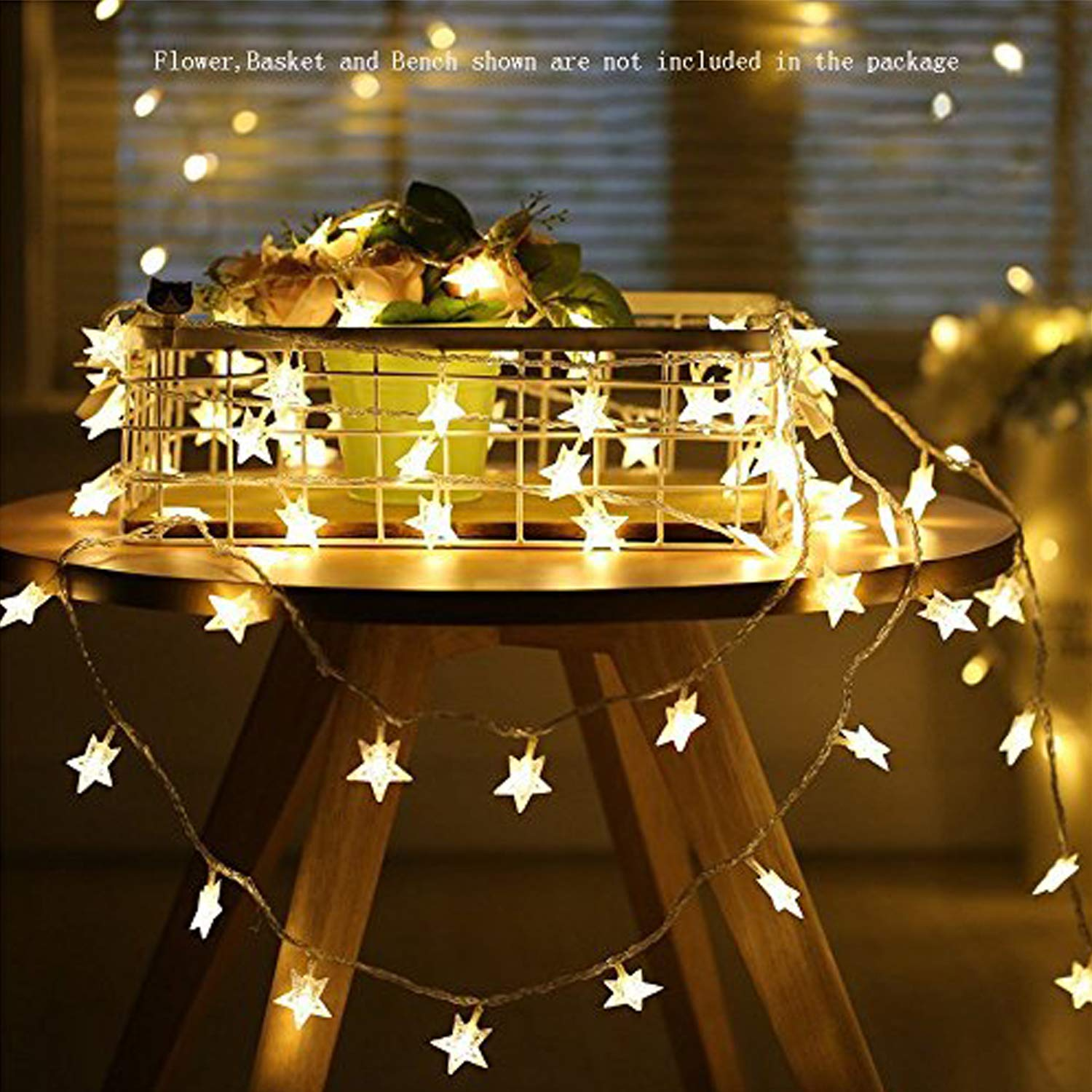 info for 86ace 3f339 Star String Lights,Battery Operated LED Twinkle Lights 50pcs LED Indoor  Fairy Lights Warm White for Patio Wedding Bedroom Princess Castle Play  Tents ...
