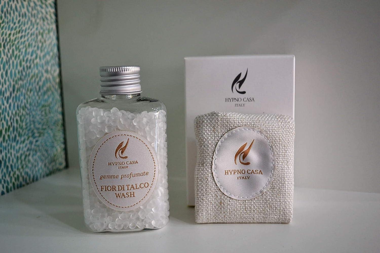 HYPNO CASA - Piedras perfumadas Flor de Talco Wash 60 g. Perfume para Secadora/Armario/Cajas/aspiradoras. Fabricado en Italia.: Amazon.es: Hogar