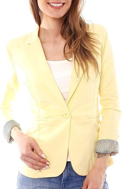 Easy Young Fashion Damen Blazer Anzug Jacket Kurzblazer