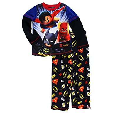 Amazon.com: Lego Super Heroes Boys Poly Flannel Pajamas (Black ...