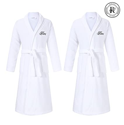 f43bd202b7 Image Unavailable. Image not available for. Color  Hers and Hers Terry Bath  Robes ...