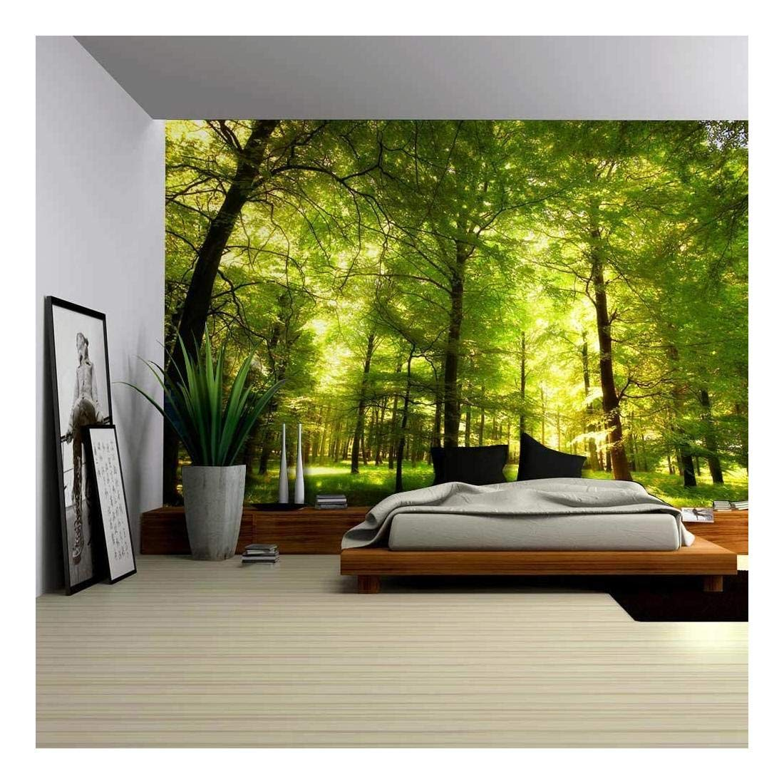 wall26 - Crowded Forest Mural - Wall Mural, Removable Sticker, Home Decor - 100x144 inches by wall26