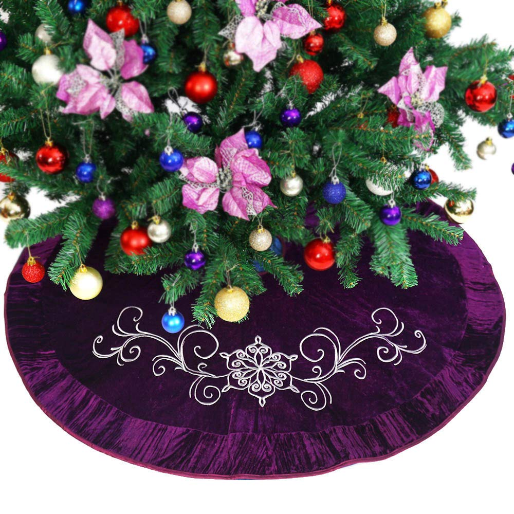 """Powereva 48/"""" Christmas Tree Skirt White