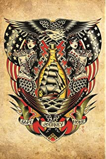 d81f4f9f4 Black Market Art Safe Journey Home by Tyler Bredeweg Nautical Rockabilly  Tattoo Artwork Art Print