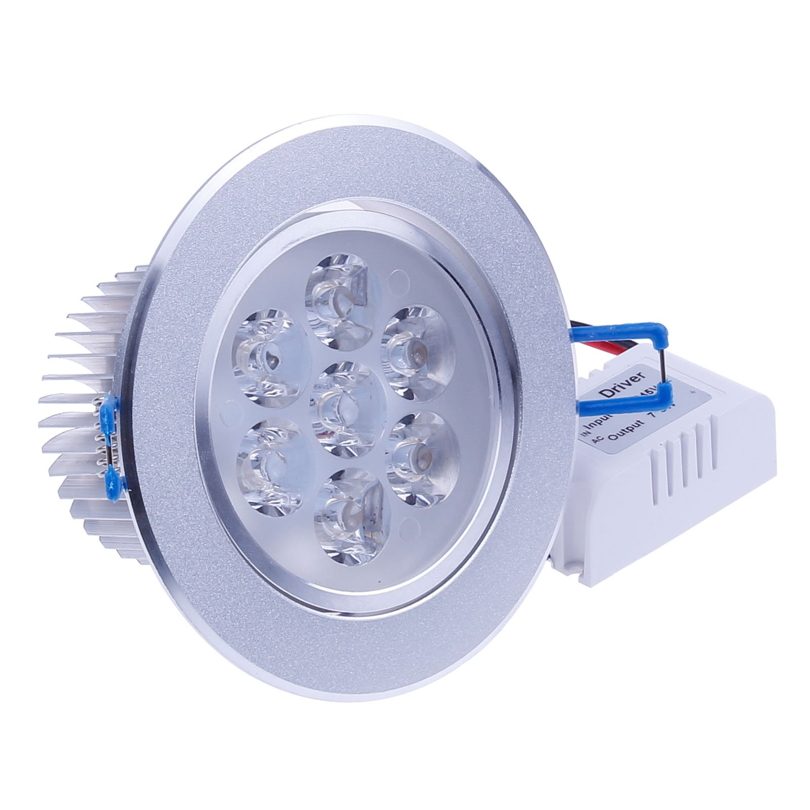 LemonBest Brand New 110V Dimmable 7W LED Ceiling Light Downlight Recessed Lighting, Superbright Cool White by LemonBest (Image #2)