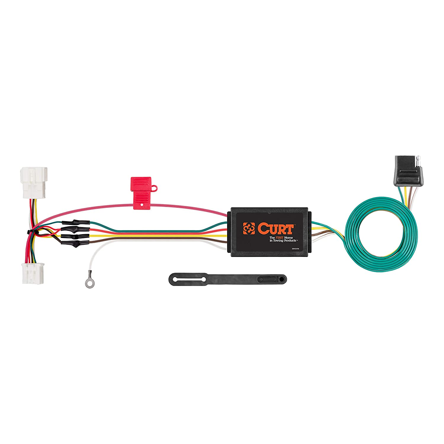 CURT 56158 Vehicle-Side Custom 4-Pin Trailer Wiring Harness for Select on