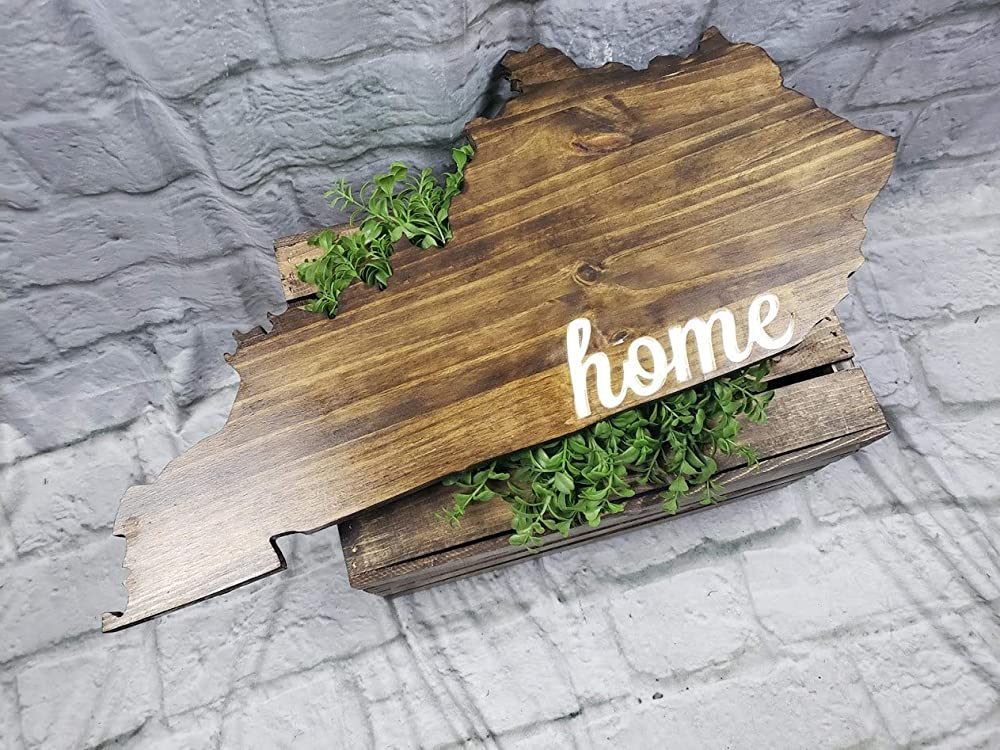 Wall Decor Wooden State Cutout Hometown USA Farmhouse Sign Home Home Gift Wood State Sign Minnesota State Sign Wood Cutout Wall Art