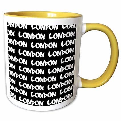 4e59e9a52 3dRose InspirationzStore Typography - London text design - white words on  black - UK British souvenir