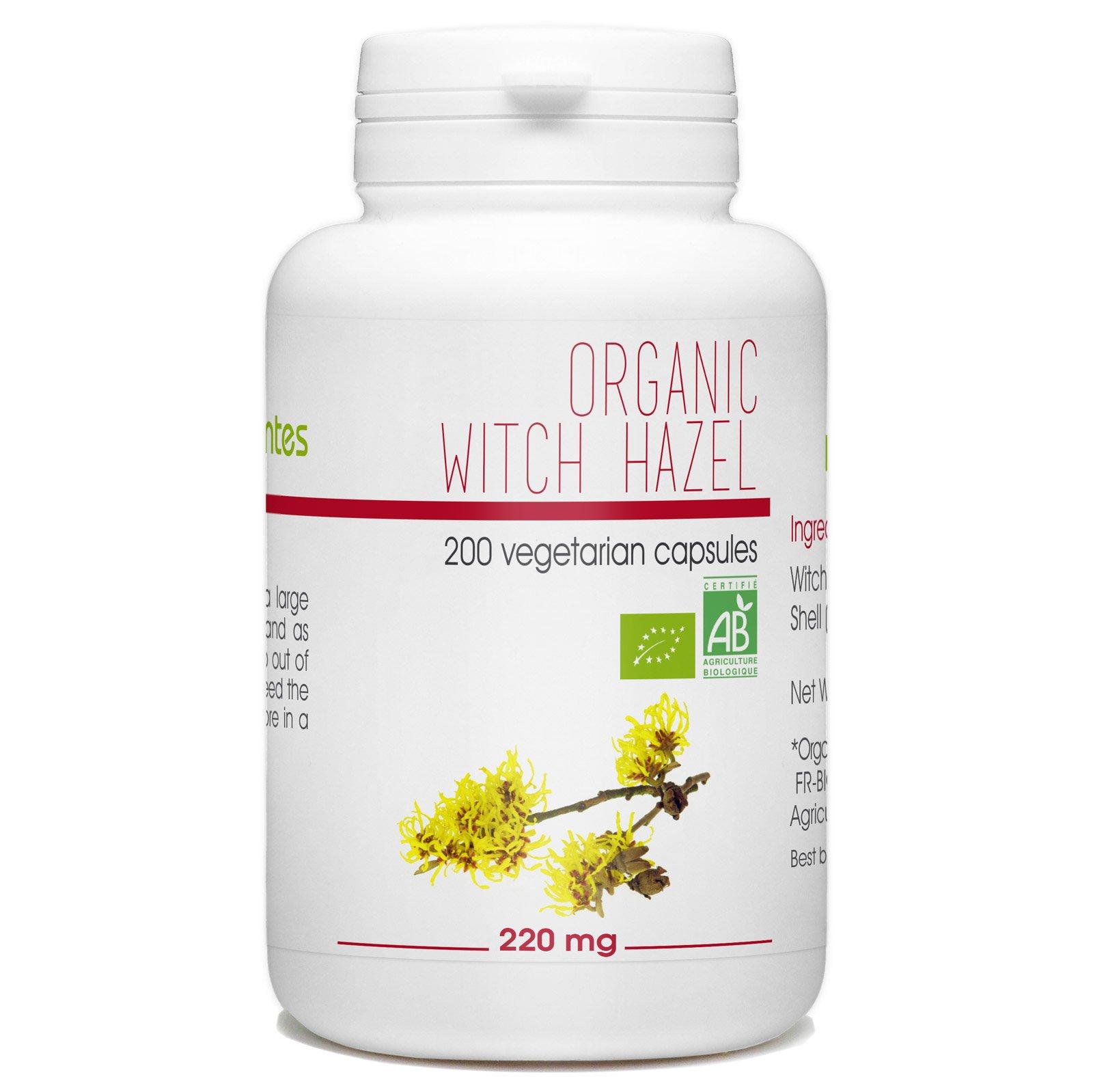 Witch Hazel - Hamamelis Organic 200 Vegetarian Capsules 220 mg by Nature Land Candles