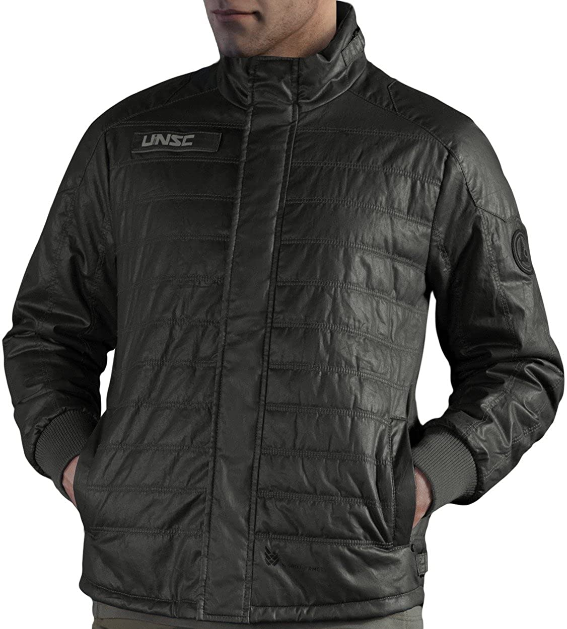 Musterbrand Halo Men Jacket UNSC Outpost Grey at Amazon ...