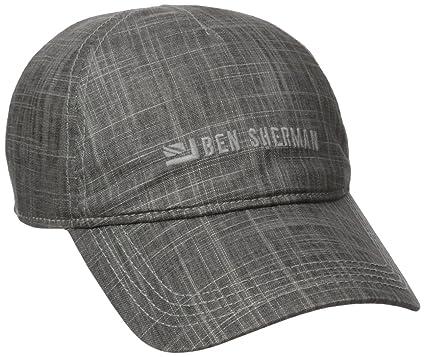 Amazon.com  Ben Sherman Men s Textured Linen Baseball Hat 17c5f0c0ded