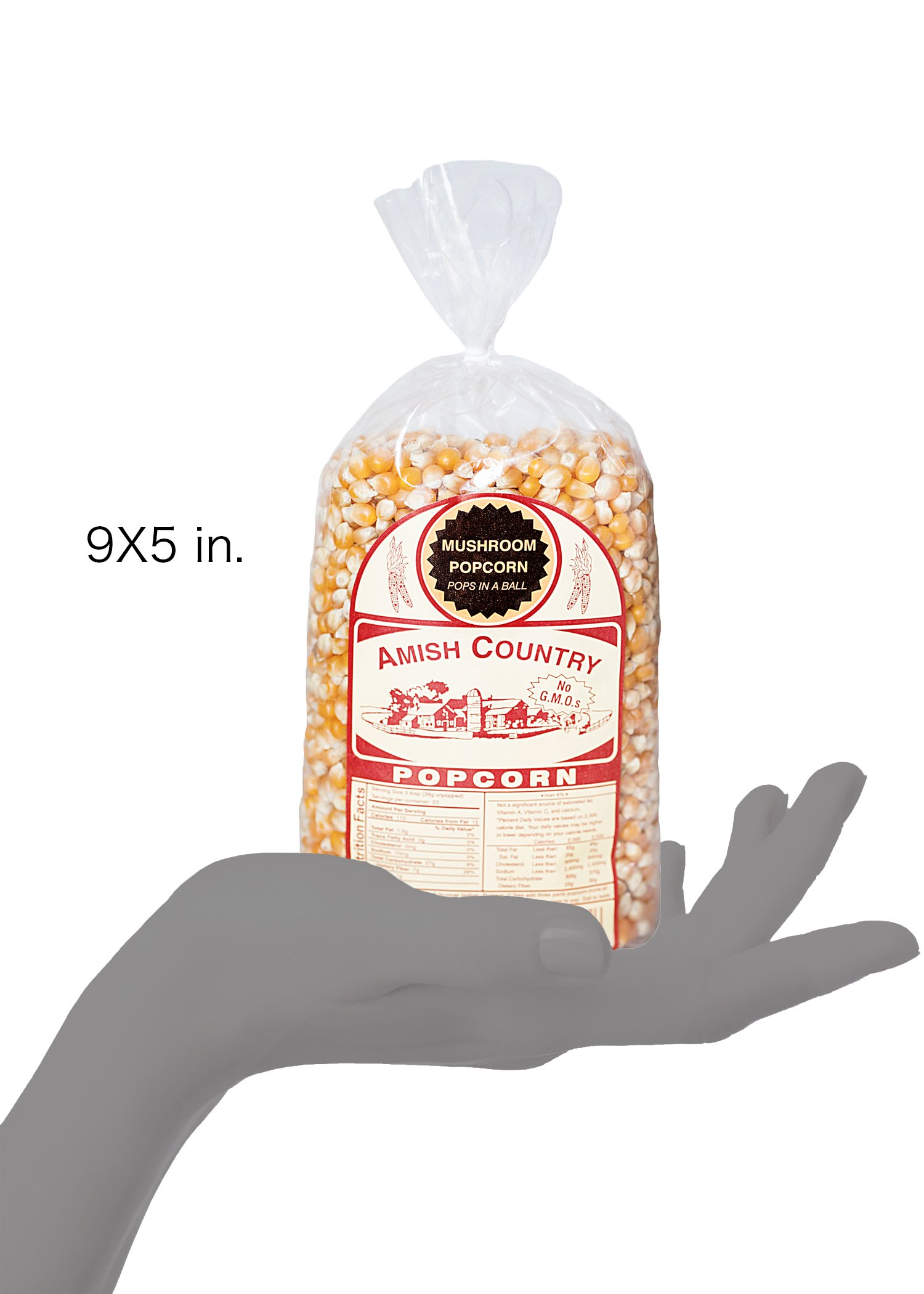 Amish Country Popcorn - Mushroom Popcorn (2 Pound Bag) With Recipe Guide - Old Fashioned, Non GMO, Gluten Free, Microwaveable, Stovetop and Air Popper Friendly by Amish Country Popcorn (Image #9)