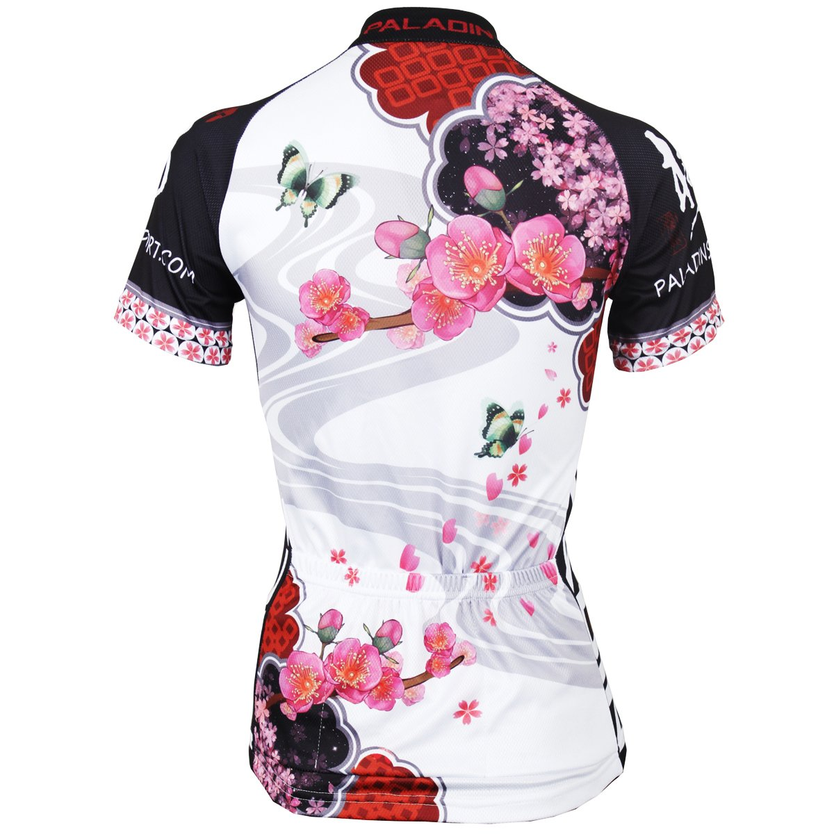 251b09be5 Amazon.com   Paladin Cycling Jersey for Women Short Sleeve Plum Flower  Pattern Bike Shirt   Sports   Outdoors