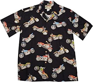 product image for Paradise Found Mens Maui Motorcycle Shirt Black S
