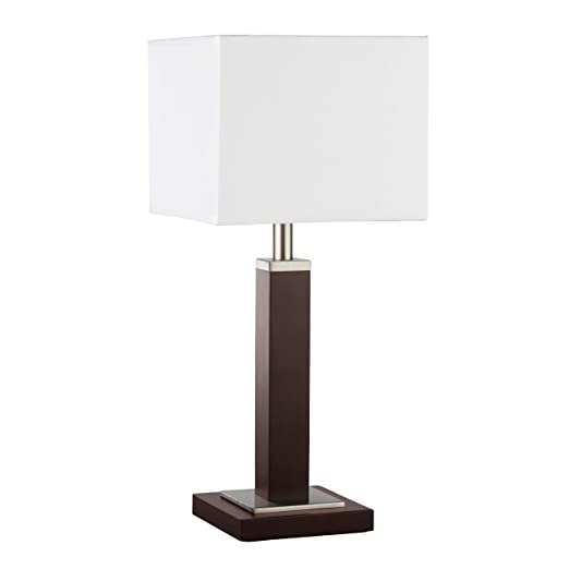 Lámpara de mesa en plata madera Bauhaus 1 x E14 hasta 40 W 230 V ...