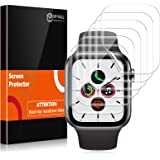MP-MALL [6 Pack] Screen Protector Compatible with Apple Watch 42mm Series 3 2 1 44mm Series 4 5 Bubble-Free iWatch…