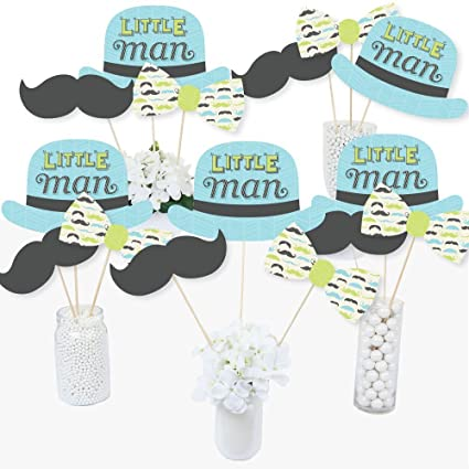 Amazon Com Dashing Little Man Mustache Party Baby Shower Or