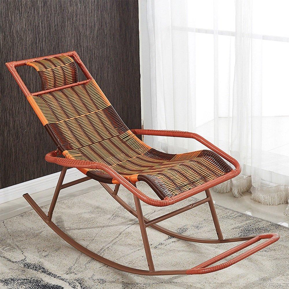 Amazon.com: XXHDYR Rocking Chair Cane Chair Adult Siesta Lounge ...