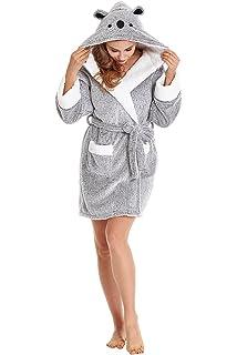 2da854213d TIMSOPHIA Robes for Women Bathrobe with Hood Spa Robes Fun Robes for ...