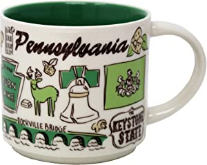 Starbucks Been There Series Pennsylvania Ceramic Mug, 14 Oz