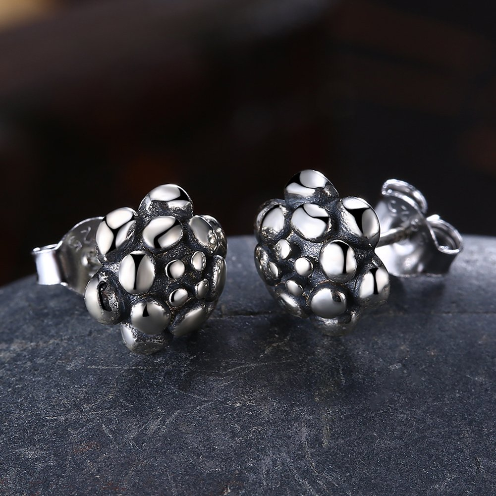 2018 FIFA World Cup Soccer Ball 925 Sterling Silver Earring Fashion Wedding Jewelry by YJEdward (Image #3)