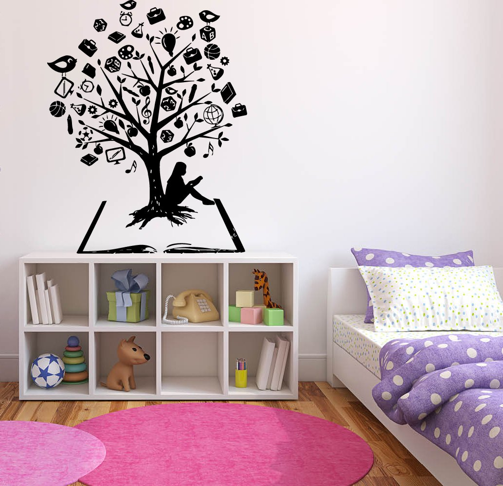 Wall Tree Sticker Decal Owl Vinyl Bird Branch Decor Room Kids Bedroom Heart Art