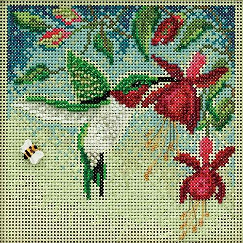 Hummingbird Cross Stitch Pattern - Hummingbird Beaded Counted Cross Stitch Kit Mill Hill Buttons & Beads 2011 Spring MH141104
