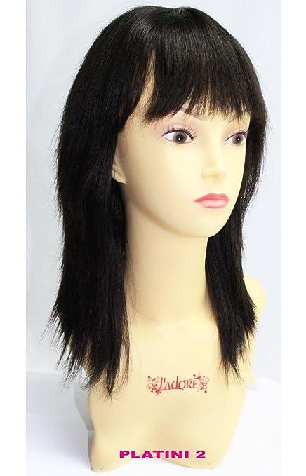 Brazilian Remy 100% pelo humano Platini peluca medio largo cabello grueso
