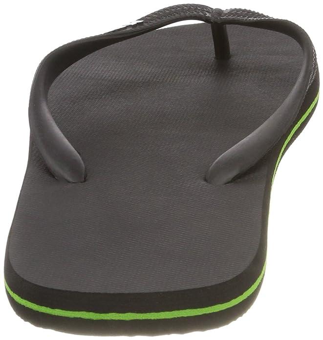 Kawasaki Chanclas Flip Flop. Negro Verde: Amazon.es: Zapatos ...