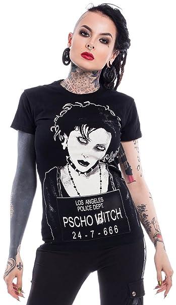 Heartless Clothing - Camiseta - Liso - Manga Corta - para Mujer Negro S