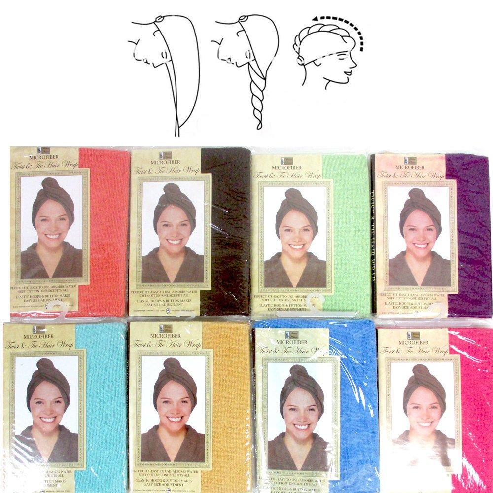 Amazon.com  1 Pc Microfiber Large Hair Head Wrap Towel Turbie Turban Twist  Soft Cap Fast Dry  Health   Personal Care 033228a3056a