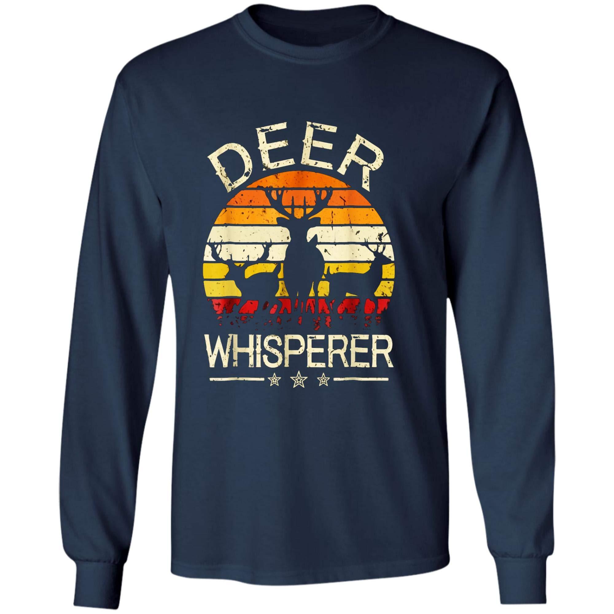 Retro Deer Whisperer Hunting Tshirt Vintage Gift For Hunters 6620
