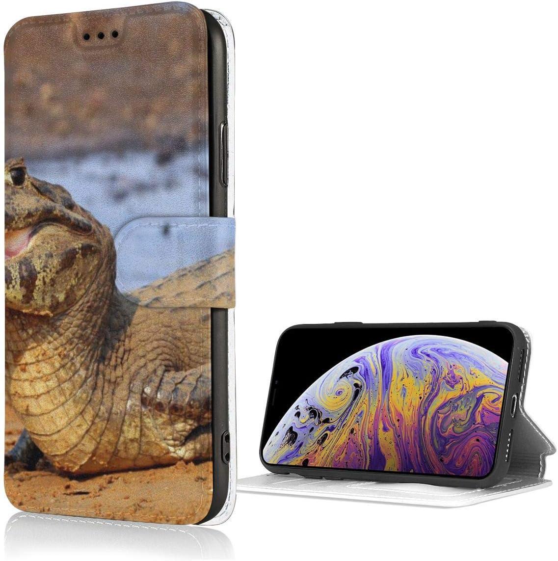 Ni Funny Yacare Caiman - Funda para iPhone Xs, piel con ranura para tarjetas y ranuras para tarjetas antiarañazos y absorción de golpes