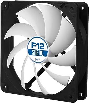 ARCTIC F12 Silent 120 mm, Ventilateur Haute Performance, Ventilateur Boitier, Refroidisseur Silencieux pour Unité Centrale, Roulement à Fluide