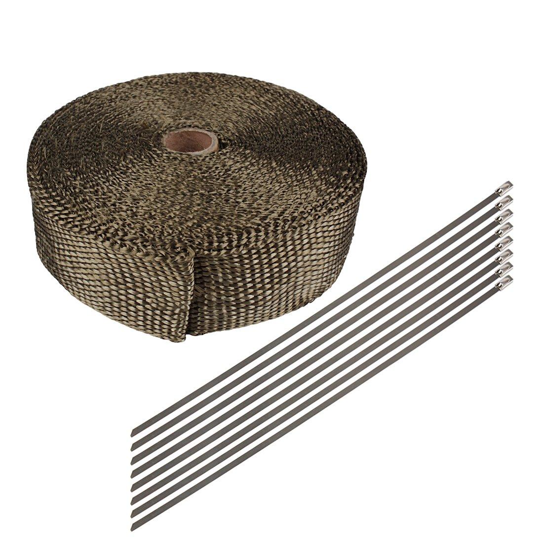 Larcele Involucro di calore in fibra di vetro con tubi di scarico del motociclo con legami inossidabili PQGGRD-01