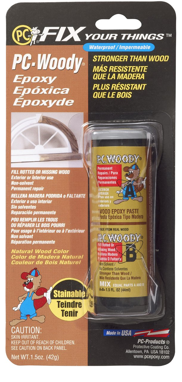 PC Products 23334 PCWoody TwoPart Wood Repair Epoxy Paste 15