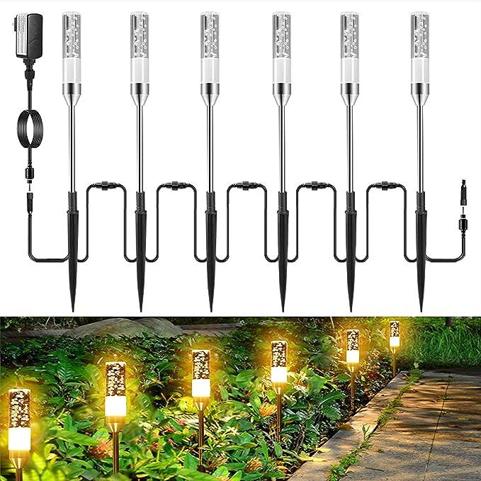 4Pcs LED Spike Garden Spotlights 12V 4*3W COB Landscape Lamp Pathway Lights