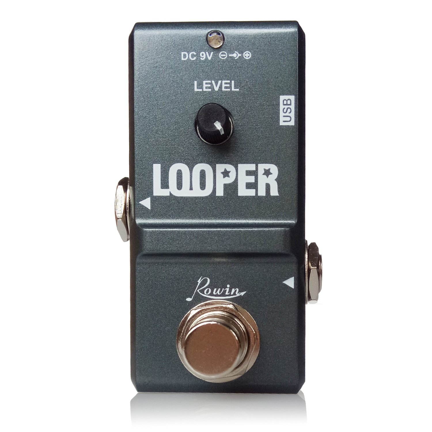 Rowin Tiny Looper Electric Guitar Effect Pedal 10 Minutes of Looping Unlimited Overdubs by Rowin