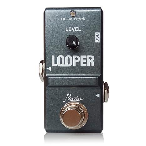 Rowin Nano Looper - Pedal de efectos para guitarra (gris)