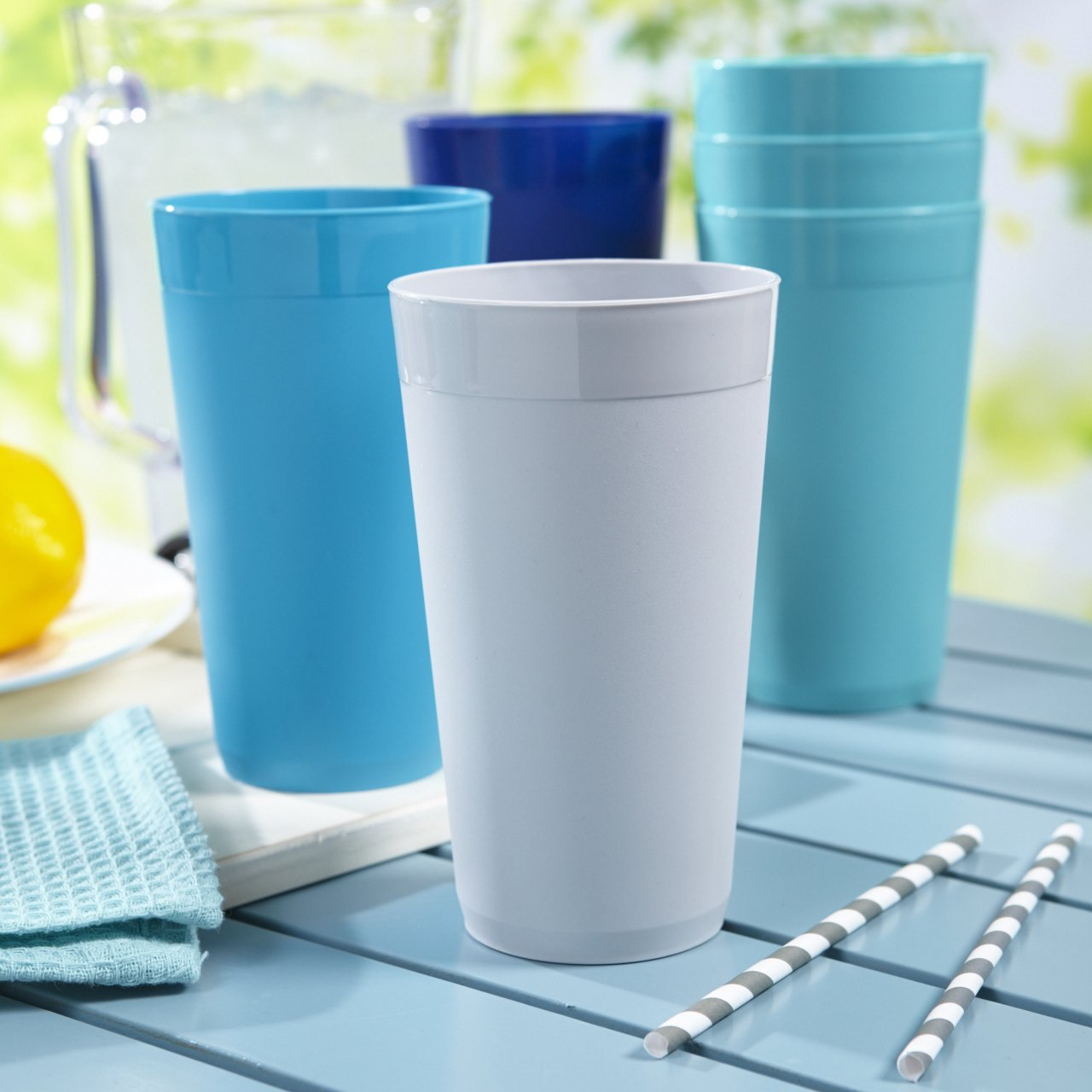 US Acrylic Newport 20-ounce Unbreakable Plastic Tumblers   set of 12 in 4 Coastal Colors by US Acrylic (Image #2)