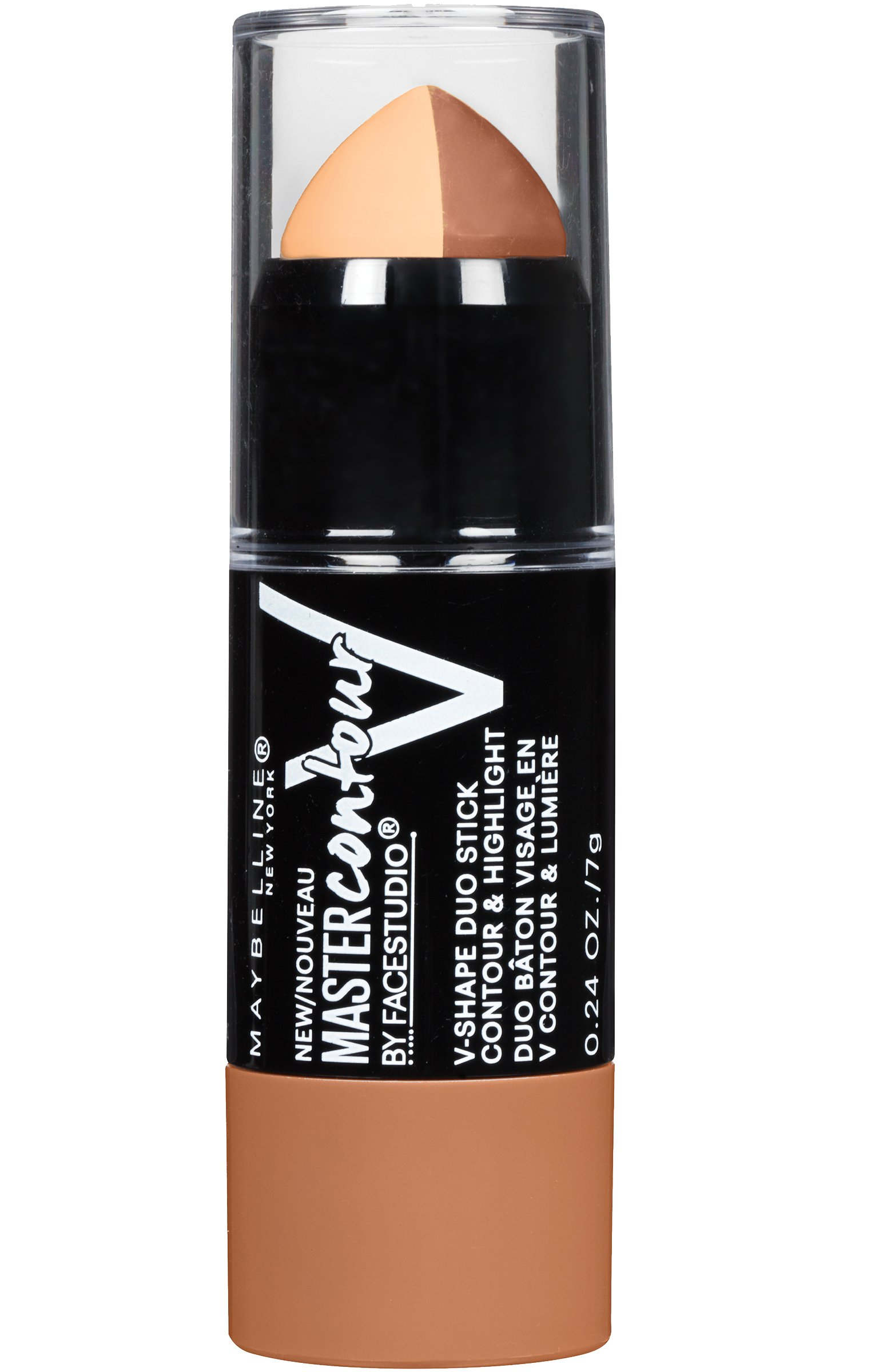 Maybelline Makeup Facestudio Master Contour V-Shape Duo Stick, Light Shade Contour Stick, 0.24 oz